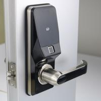 Electronic Fingerprint Door Lock Digital Smart Door lock unlock by Fingerprint Code Card and Mechanical key with 2 cards