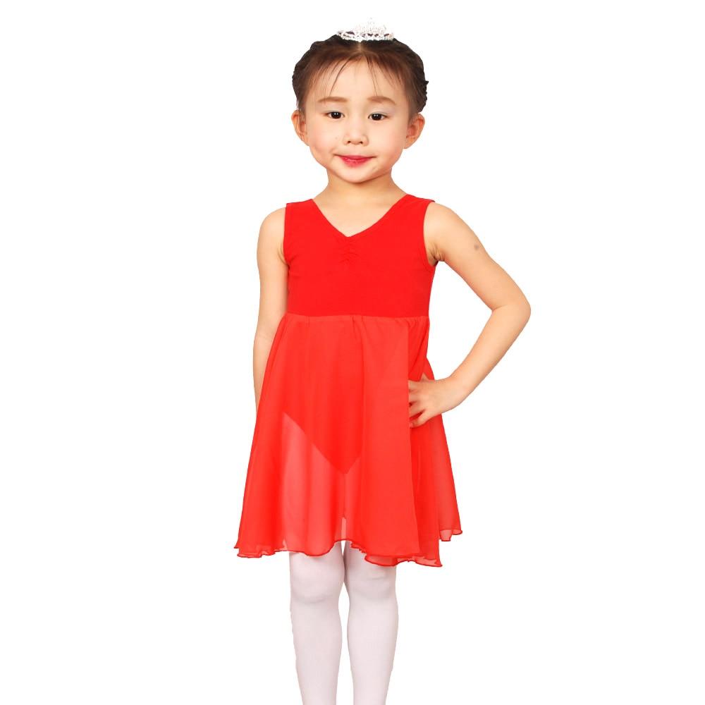 Valchirly Girls Ballet Chiffon Dress,Kids Cotton Lycra Tutu Ballet Dress,Gymnastics Leotard Costume