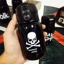 180ml Black SKULL SUPERME Design Small Coffee Thermomug Gift Thermos Bottle Mini Stainless Steel Metal Vacuum Thermos Mug