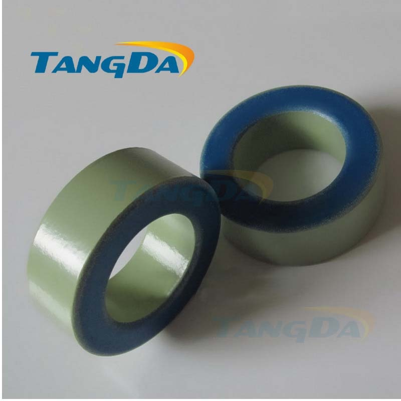 Tangda Iron powder cores T650-52 OD*ID*HT 165*88*51 mm 405nH/N2 75ue Iron dust core Ferrite Toroid Core toroidal green blue