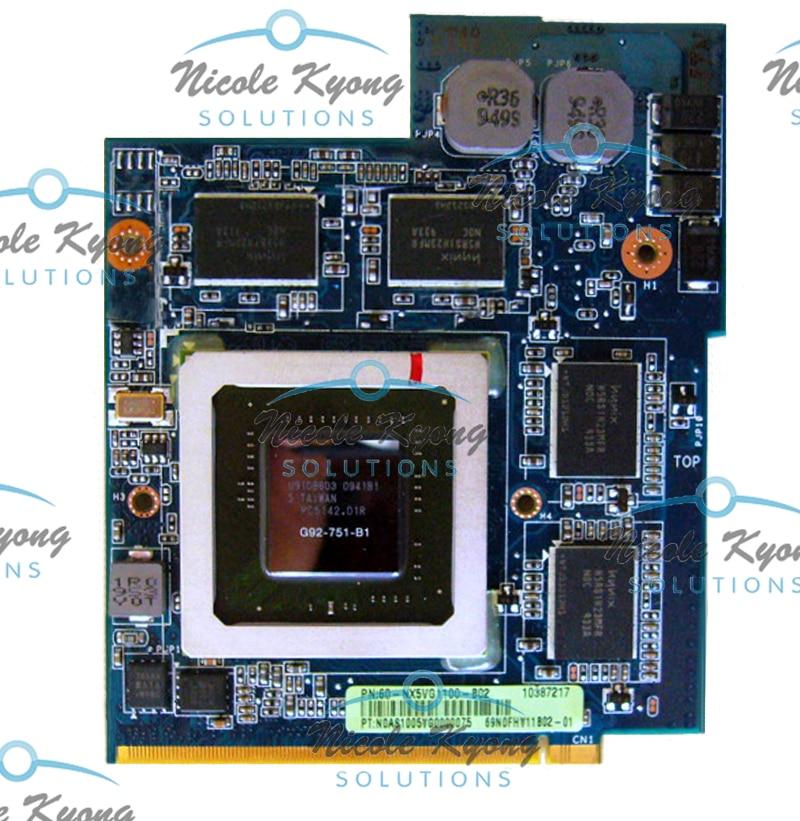 PN 69N0FHV11B02-01 GTX 260M GTX260M G92-751-B1 DDR3 1GB MXM VGA بطاقة الفيديو ل ASUS G51J G61J G60J G60VX G51VX دفتر