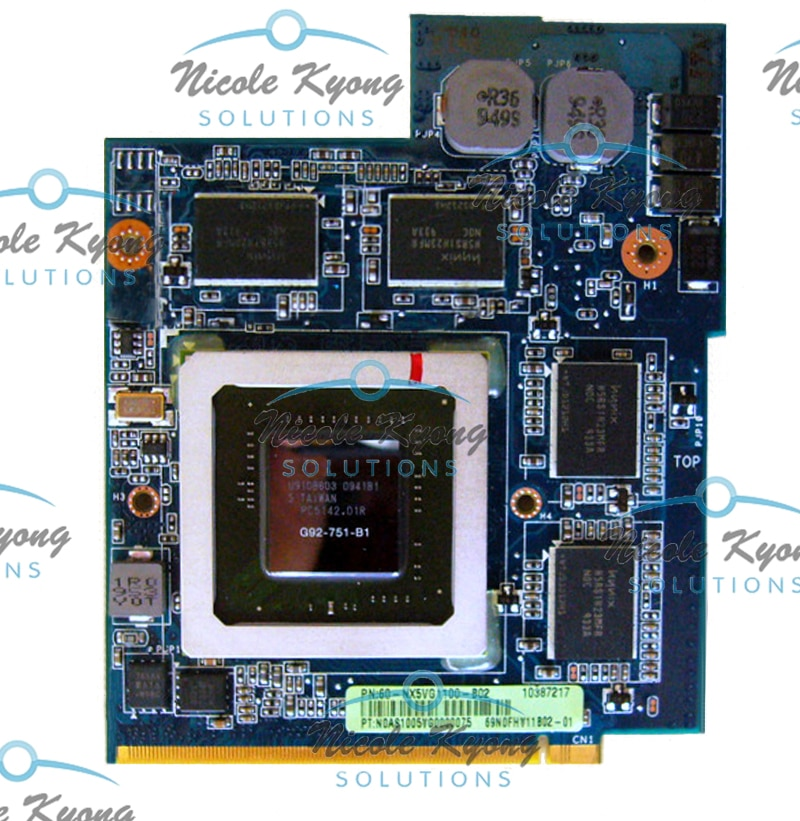 PN 69N0FHV11B02-01 GTX 260M GTX260M G92-751-B1 DDR3 1GB MXM VGA Video Card for ASUS G51J G61J G60J G60VX G51VX notebook