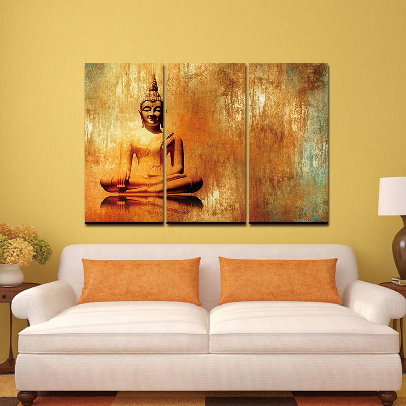 Canvas Painting Art Picture Buddha Oil Effect Painting Wall Art Paintings Picture modern print Canvas Paints Home Decor no frame