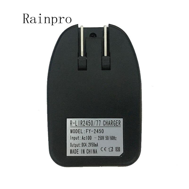 Rainpro 2 batterijen + 1 oplader LIR2450 3.6 V 120 mah knop oplaadbare lithium batterijen opladen Li-Ion batterij