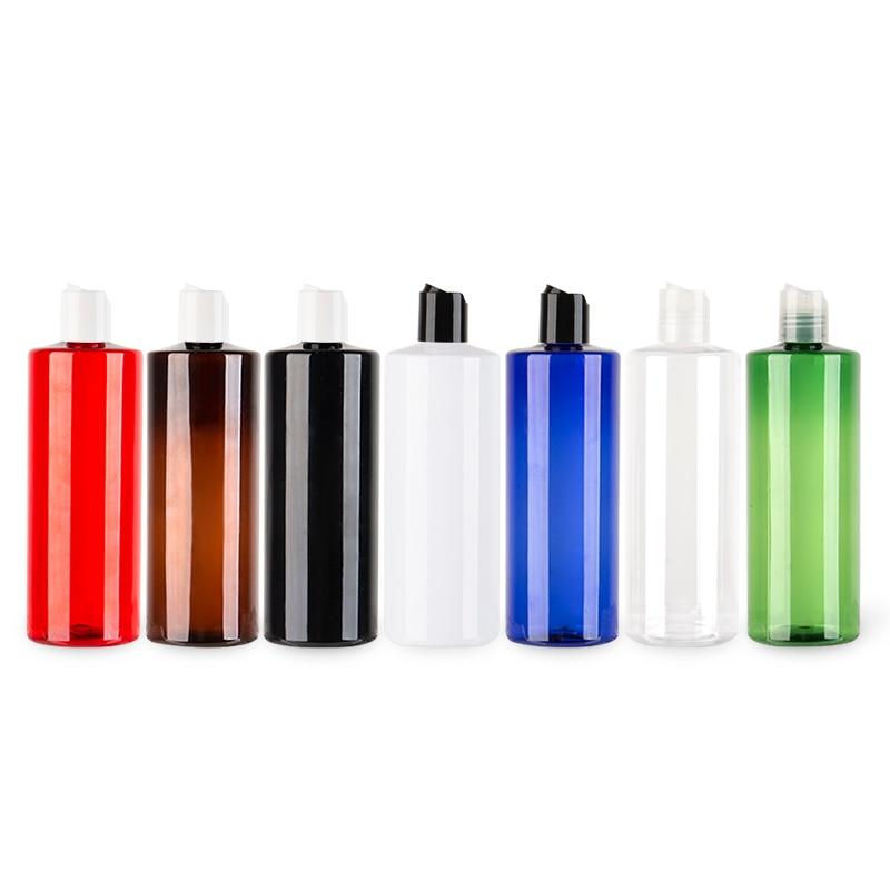 500ML Plastic Disc Screw Cap Bottle PET Cosmetic Shampoo Container Empty Liquid Soap Lotion PET Bottles Essential Oil Bottles