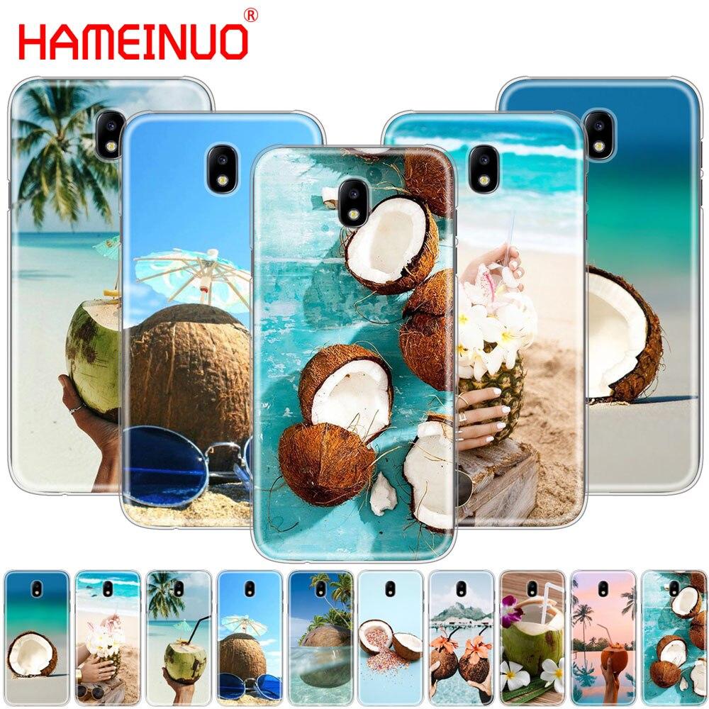 Чехол для телефона HAMEINUO Coconut on the beach для Samsung Galaxy J3, J5, J7 2017 года J527 J727 J327 J330 J530 J730 PRO