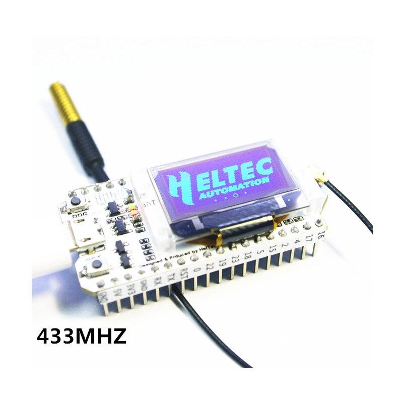 433 MHZ/868-915 MHZ Bluetooth WIFI ESP32 LoRa SX1278/SX1276 esp32 oled tablero de desarrollo 0,96 pulgadas azul pantalla OLED para Arduino