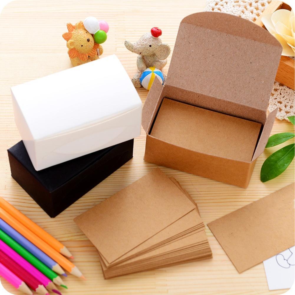 Tarjetas de visita LumiParty 100 Uds de papel Kraft en blanco de doble cara Tarjeta de mensaje tarjeta de regalo DIY-25