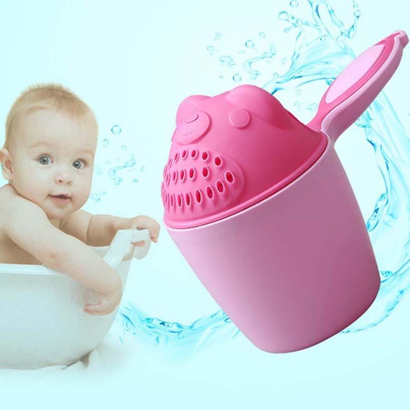 1 pieza, nueva cuchara de dibujos animados para bebé, ducha, baño, agua, natación, taza de champú para bebé, accesorios de baño para niños