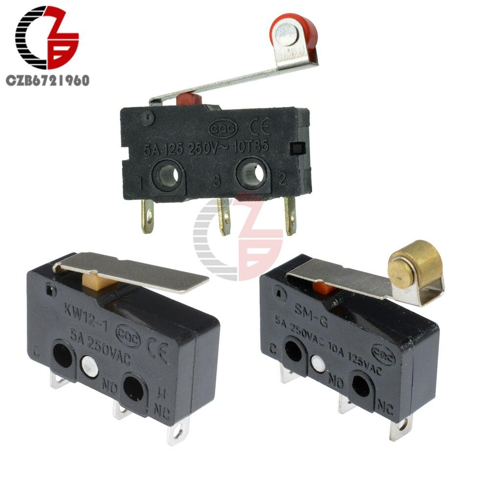 10Pcs KW11-3Z KW12-3 טקט מתג 5A 250V Microswitch מיקרו מתג ב-off רולר מנוף זרוע בדרך כלל פתוח קרוב מתג הגבלה