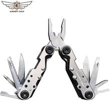 Aigle tout-puissant 11 en un outil à main tournevis Mini Portable en acier inoxydable multi-outil pli poche couteau pliant pinces outils dextérieur