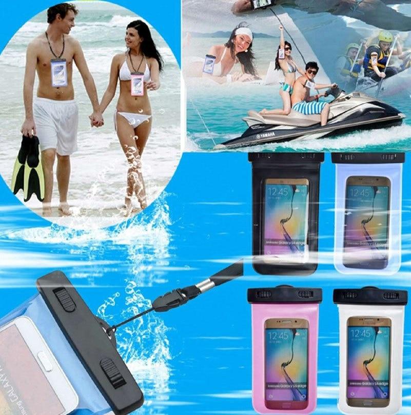 Universal transparente à prova dunderwater água subaquática bolsa saco caso capa para lenovo p70 p70t P70-T P70-A telefone touchscreen telefone móvel