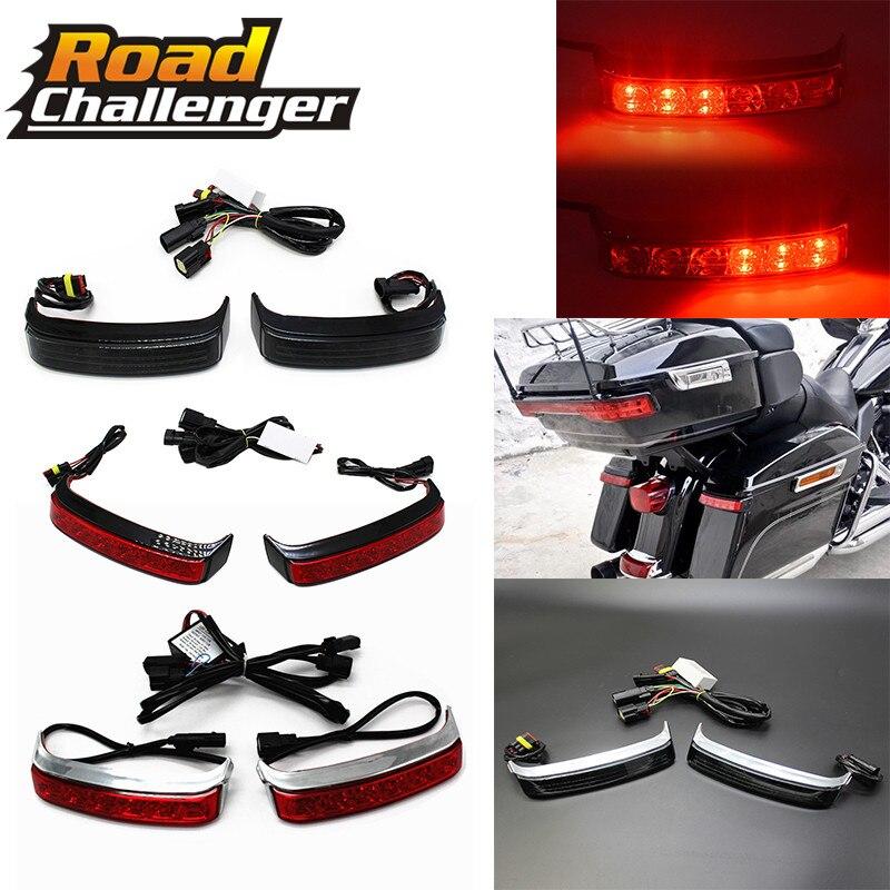 Motorcycle Parts Saddlebag Box Luggage Housing Tail Run Brake For Harley Street Glide  Turn Light Lamp LED Len