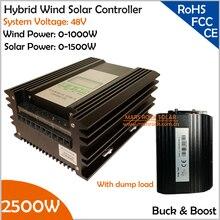 Met Ontlading Verzetsstrijder 48 V 1000 W Wind 1500 W Solar Buck en Boost Hybrid MPPT Controller met TwDC Output Interfaces