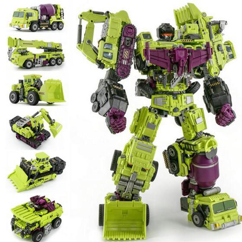 JinBao Devastator Transformation G1 GT Oversize 6 IN1 Bonecrusher Scrapper Gravity Mixmaster Hook KO Action Figure Robot Toys
