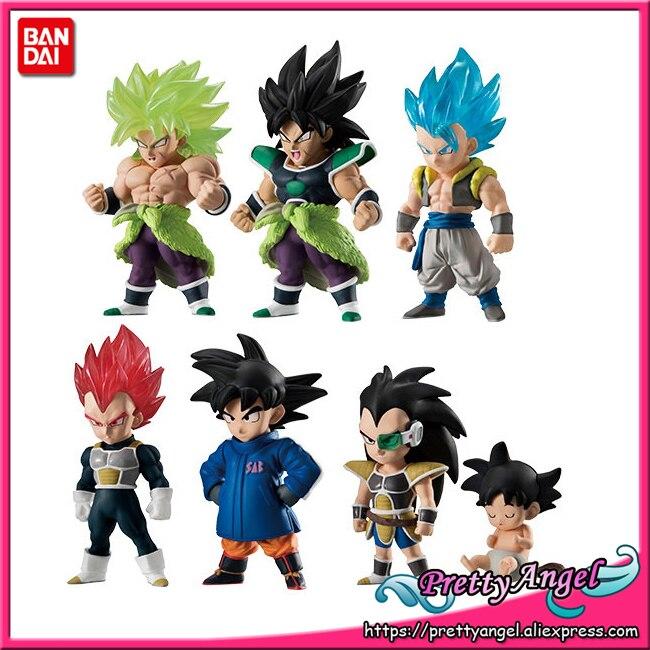 PrettyAngel-de Bandai ADVERGE 09 Dragon Ball SUPER conjunto completo de 6 Broly hijo de Goku Vegeta Gogeta Ready juguete figura