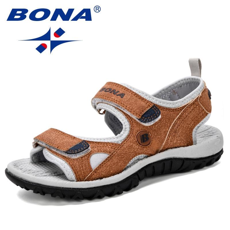 BONA 2019 New Popular Children Sandals Summer Boy Beach Shoes Kids Casual Comfortable Sport Trendy