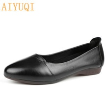 AIYUQI Women shoes flat 2021 spring new women casual shoes genuine leather trendy pointed ballet wom