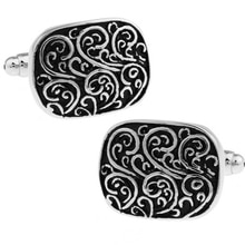 Factory Price Retail Classic Men Gifts Cuff links Fashion Copper Material Black Carving Design CuffL