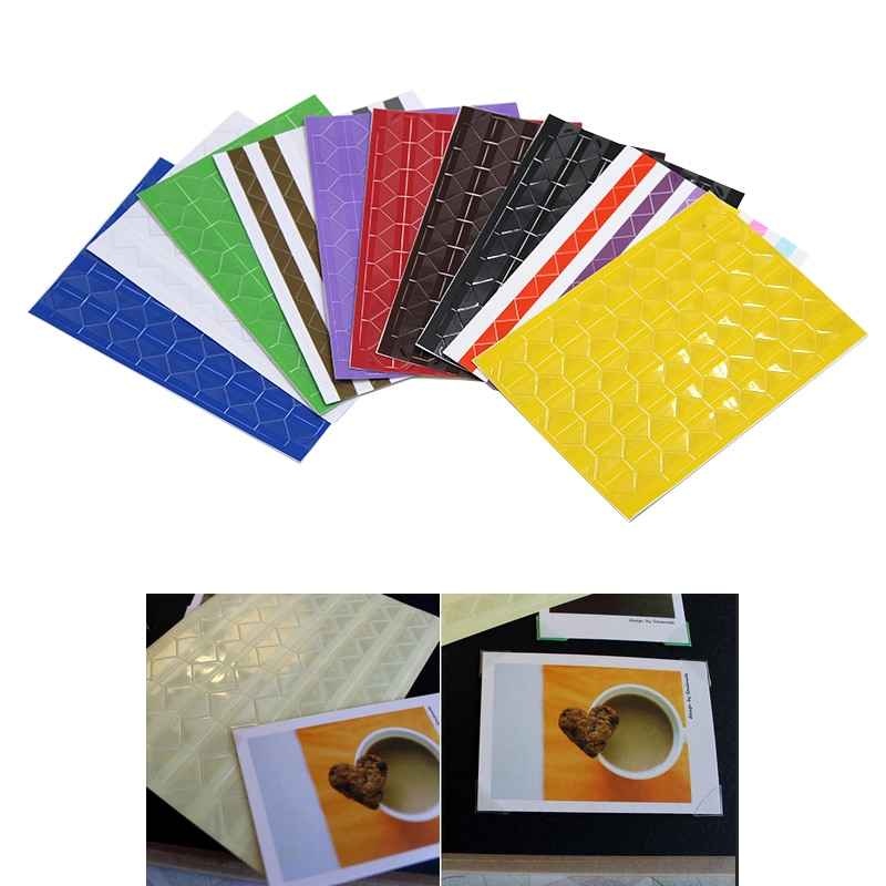 102 pcs/sheet New PVC Stickers DIY Colorful Corner Scrapbook Paper Photo Albums Frame Picture Decoration 6A1351