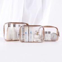 Travel Transparent Cosmetic Bag PVC Women Zipper Clear Makeup Bags Beauty Case Make Up Organizer Sto