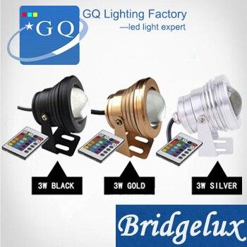 China post AC12v DC12V 3W RGB Led luz bajo el agua lámpara piscina estanque iluminación IP68 impermeable