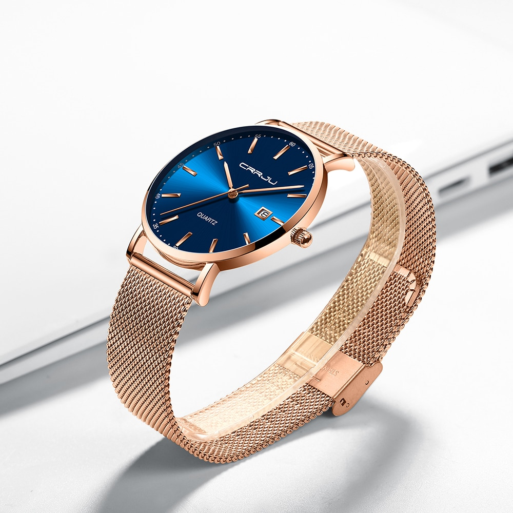 CRRJU Luxury Fashion Woman Bracelet Watch Women Casual Waterproof Quartz Ladies Dress Watches Gift lover Clock relogio feminino enlarge