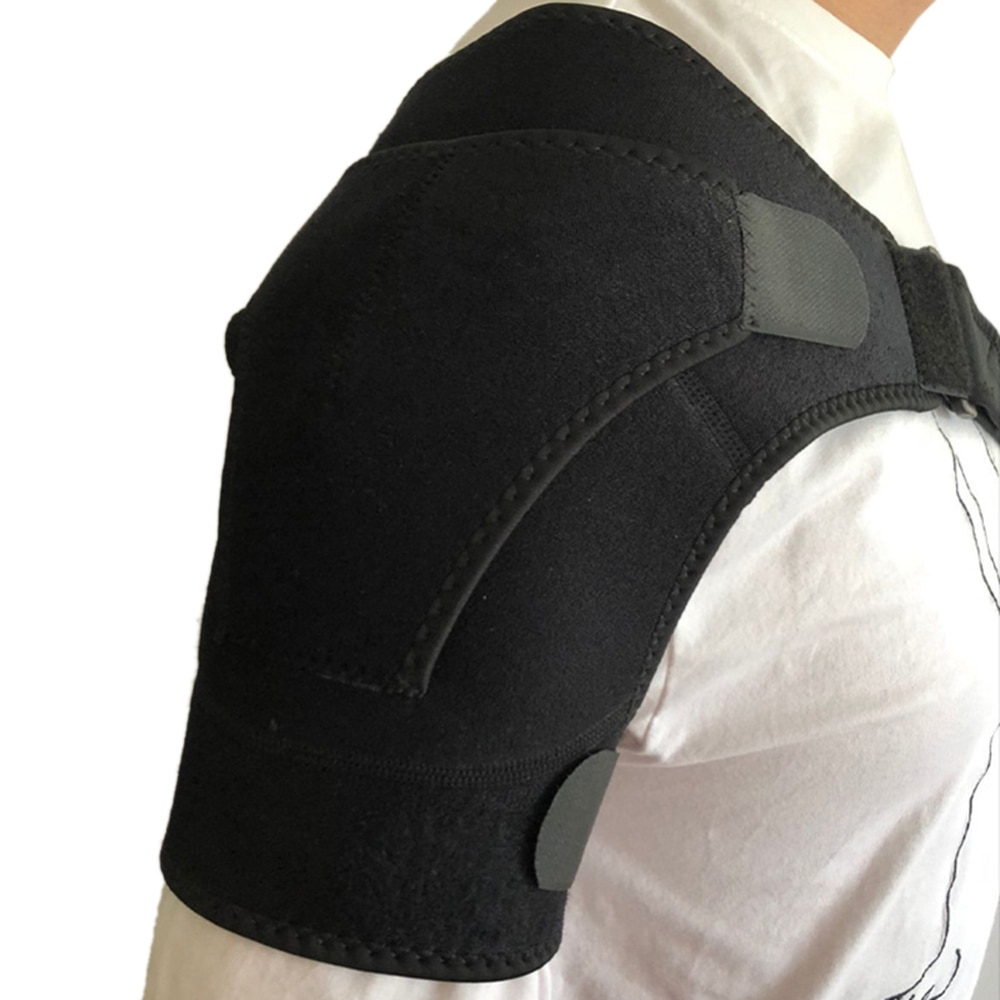 Unisex ajustable hombres deportes boxeo banda de vendaje apoyo levantamiento de peso espalda soporte baloncesto hombro Pad Protector
