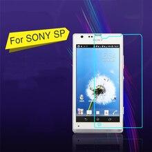 Nouveau 0.3mm Super mince verre trempé Anti incassable écran protecteur Film couverture pour Sony Xperia SP M35H Arc bord avec des outils propres