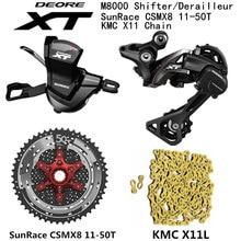SHIMANO DEORE XT M8000 Groupset MTB Mountain Bike 1x11-Speed 46T 50T SL+RD+CSMX8+X11.93 M8000 shifter Rear Derailleur