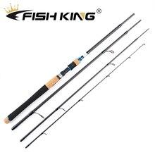 Canne à pêche FISH KING 2.1m 2.4m 2.7m 4 Section carbone filature leurre canne à pêche 5-20g/10-30g/15-40g pour calmar brochet canne à pêche