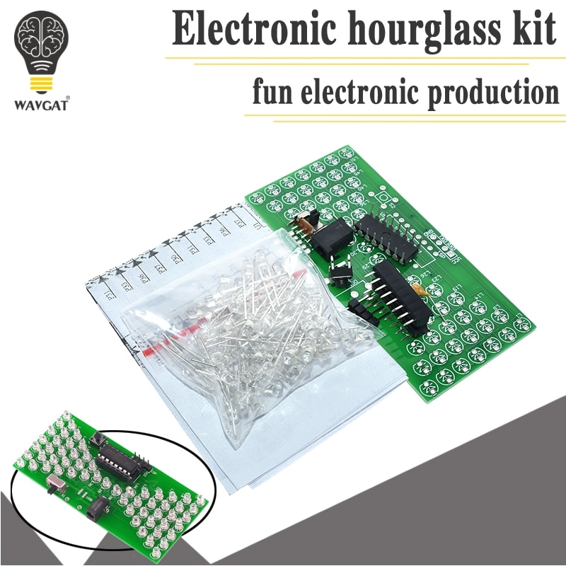 5V Electronic Hourglass DIY Kit Funny Electric Production Kits Precise With LED Lamps Double Layer P
