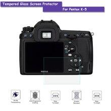 9 h protetor de tela de vidro temperado lcd película de proteção de vidro para pentax k5 k-5 câmera real acessórios