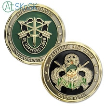 Nouveau cadeau 1/3/5-10 pièces Beret vert fidèle et vrai   Pièce de défi militaire des Forces spéciales de larmée américaine des états-unis