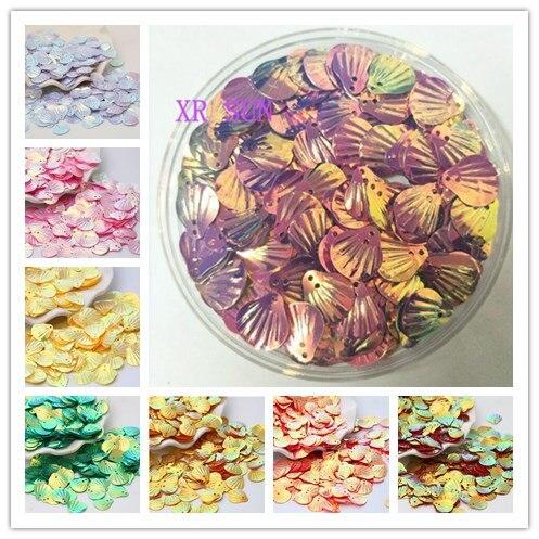 300pcs Motif Wedding AB 18mm Shell Sequins DIY Accessories Stitch beads Handmade Flowers Sequins