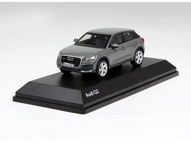 Audi Q2 1/43 gris Diecast, colección de modelos de coches, regalo 2016