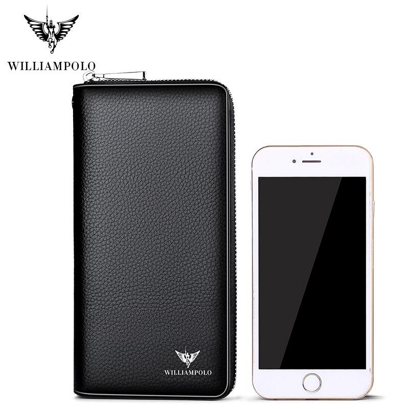 Купить с кэшбэком Credit Card HolderLong Clutch Bags WILLIAMPOLO Phone Card Checkbook Organizer Wallet Fashion Zipper