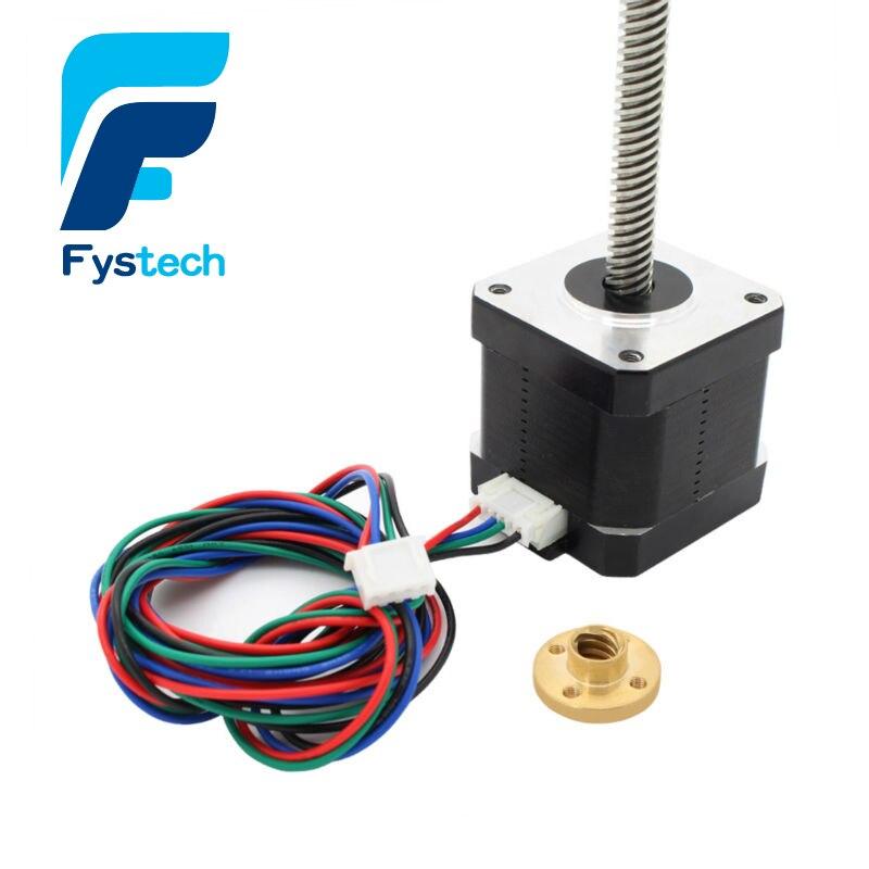 2 шт. NEMA 17 свинцовый винт M8 300 мм Z Axis 3D принтер набор шаговый двигатель для 3D принтера