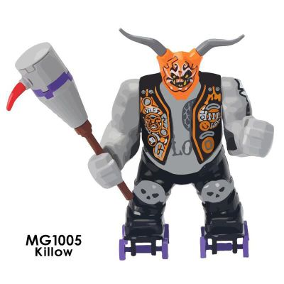 10 Uds serie Ninja Killow del Samurai X Mecha helicóptero Robots Juguetes de bloques de construcción niños Gfits Compatible
