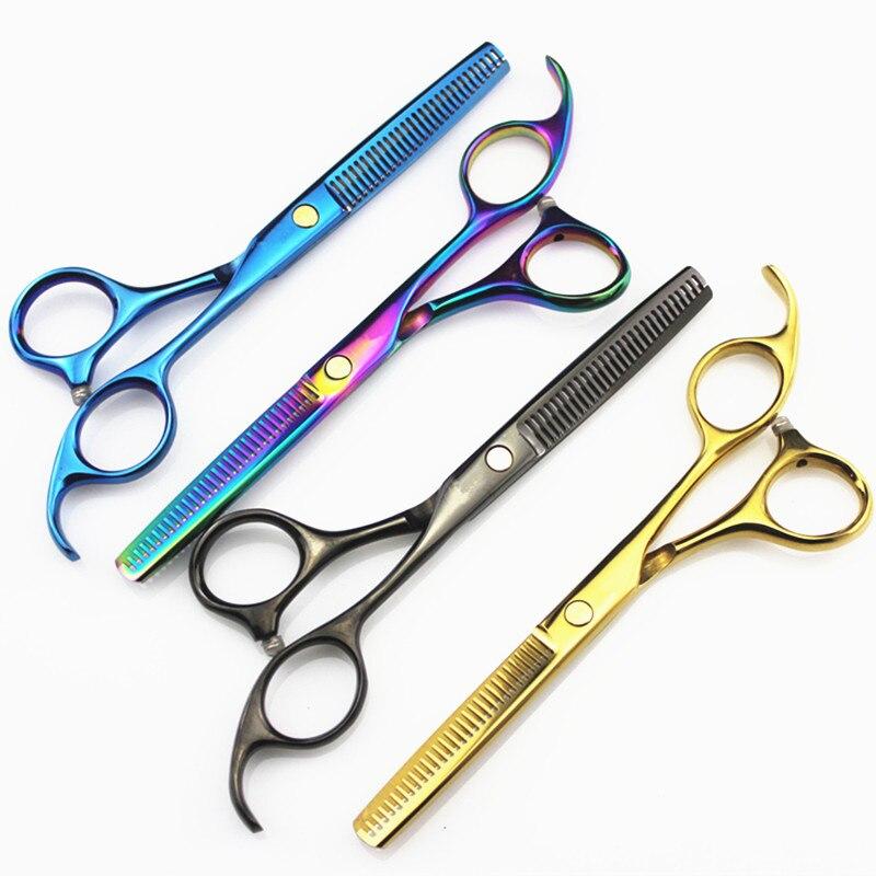 5,5 zoll Friseur Scissor Barber Scissor Schneiden & Ausdünnung Scissor Japan440c Salon Friseur Haar schere