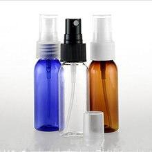 30 pz/lotto Ambra PET Bottiglie di Profumo Atomizzatore Mini di Plastica Trasparente 30ml Bottiglia di Viaggi Spray Bottiglia E la Bottiglia di Liquido Pompa blu
