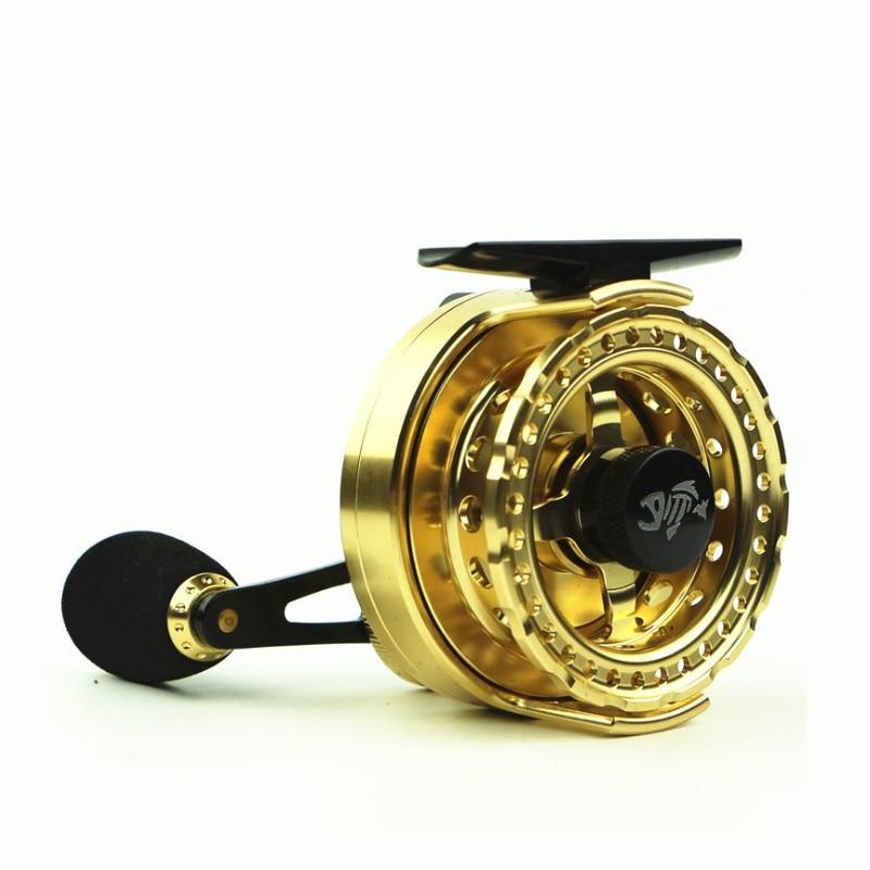 Yumoshi Fishing reel All metal Golden color Raft wheel  FIsh line  Micro lead s Left hand Right   gear