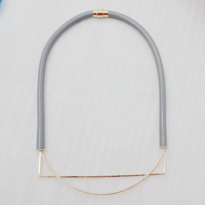 2018 popular fashion designer Necklace stethoscope cos Necklace Pendant Jewelry simple GEO maze for women