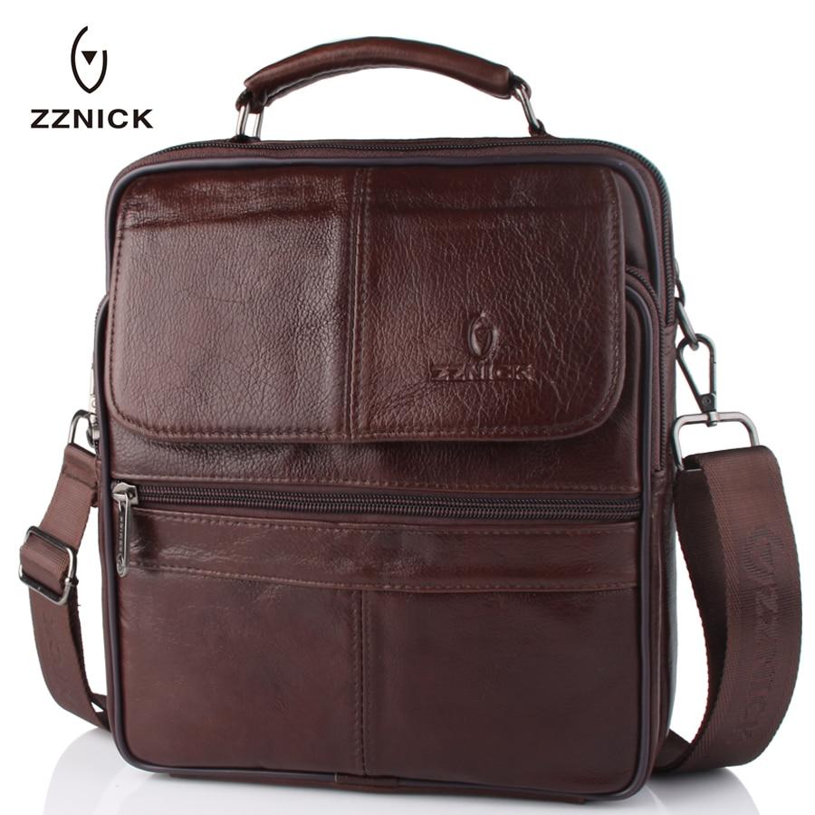 حقيبة كتف من الجلد الطبيعي للرجال ، حقيبة كتف من جلد البقر بتصميم عتيق للرجال ، 2020
