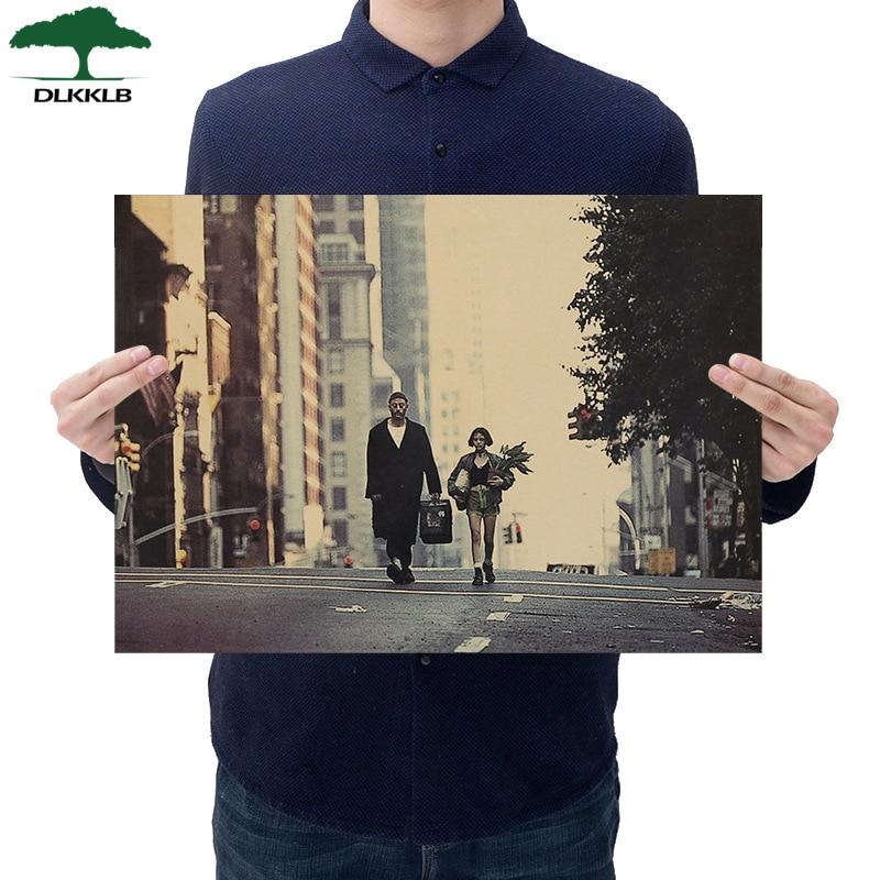 Dlkklb Леон классический фильм крафт-бумага постер Бар общежитие кафе декоративная мебель живопись наклейки на стену 36X51,5 см