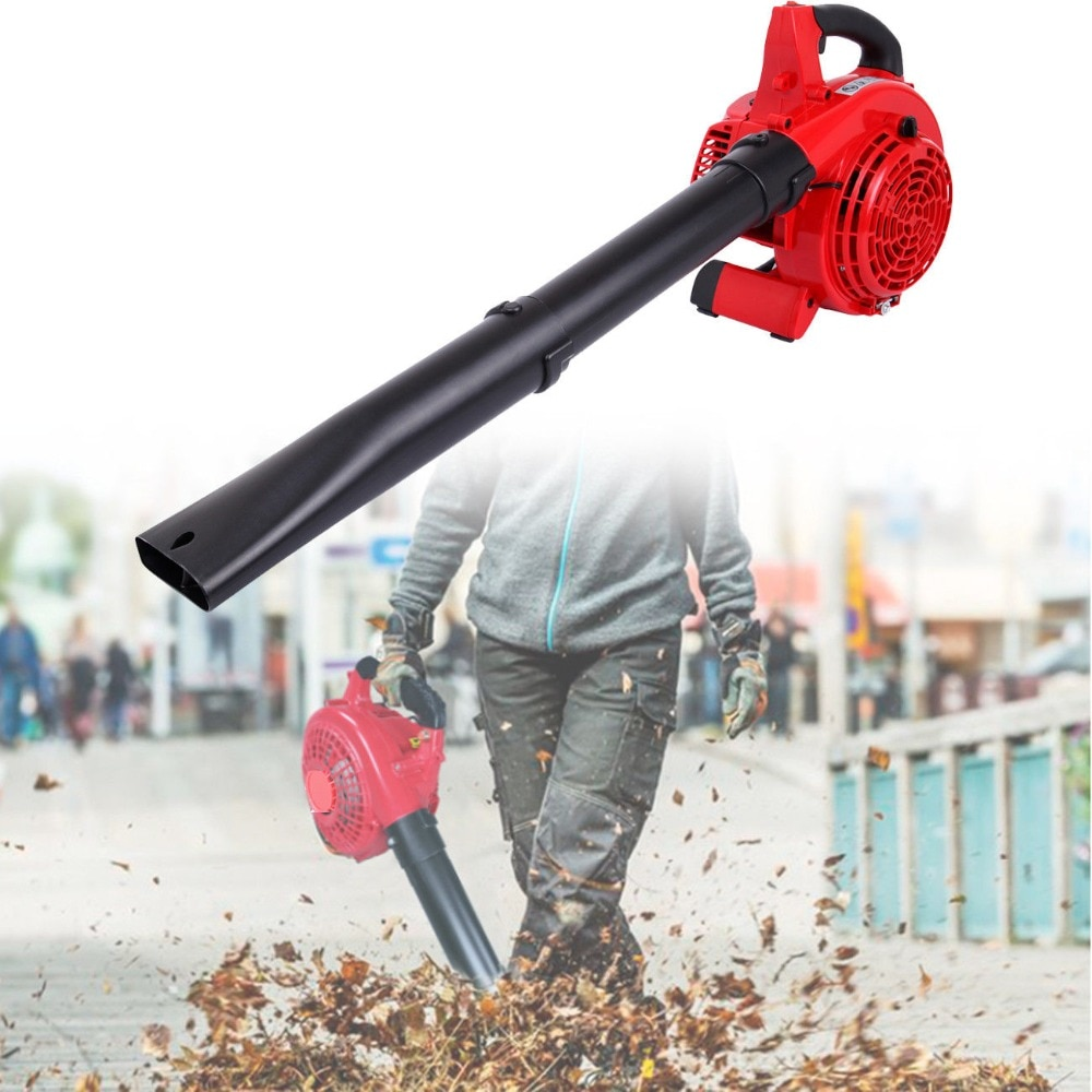 25cc 2 tempos handheld jardim quintal gás gasolina folha ventilador de vácuo potência 400cfm