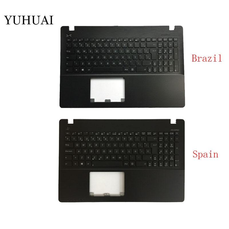 Brasil/español teclado del ordenador portátil para ASUS F552CL F552E F552EA F552EP F552L F552LAV F552LD F552M F552MD F552MJ Palmrest cubierta