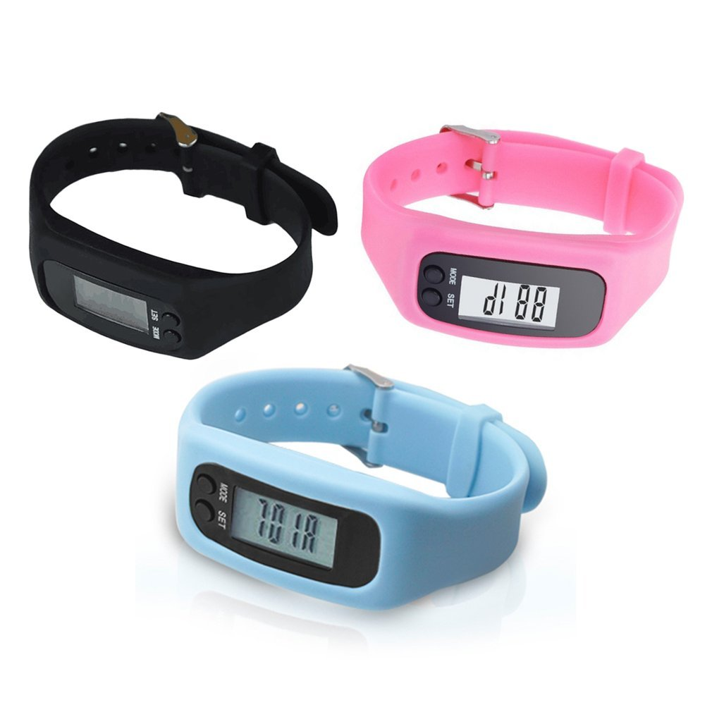 Pulsera de Reloj de pulsera inteligente de presión arterial, podómetro, Monitor deportivo, Running, contador de pasos, pulsera de silicona para Fitness