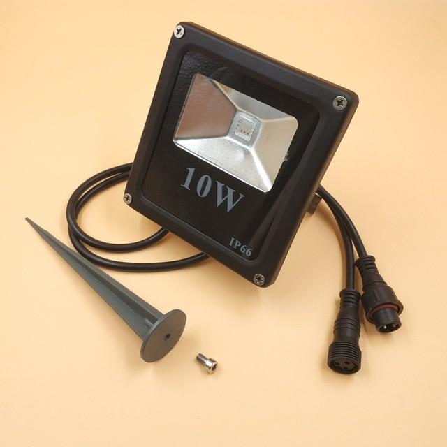 Inteligente WS2811 Controlado IP66 10 w CONDUZIU a Luz de Inundação À Prova D Água com acessórios e 13.5mm/18.5mm/xconnect conectores