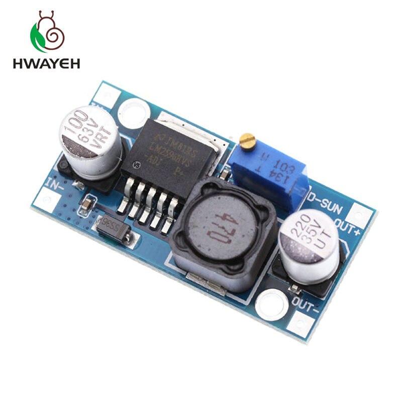 KIT convertidor Buck DC adaptador reductor de DC-DC de alimentación ajustable 3A LM2596HVS LM2596HV reductor de potencia 4,5-50 V a 3-40V